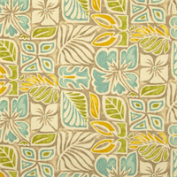 Sunblocks Bleached Yellow Floral Cotton Drapery Fabric Order a Swatch