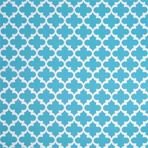 Fynn Ocean Blue and White Geometric Indoor Outdoor Fabric by Premier Prints 30 Yard Bolt