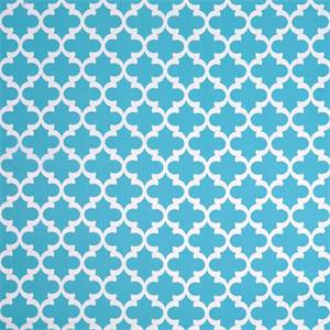 Fynn Ocean Blue and White Geometric Indoor Outdoor Fabric by ...