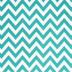 Zig Zag Ocean Blue and White Indoor Outdoor Fabric by Premier Prints 30 Yard Bolt