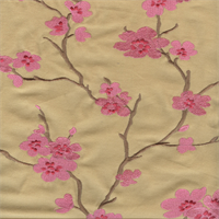 Hangzhou Petal Pink Embroidered Drapery Fabric by P Kaufmann
