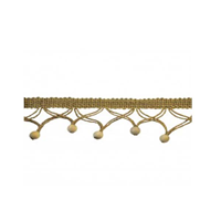 BF4601 Color 28 Tan Wooden Beaded Fringe