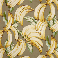 Top Banana Bleached Yellow Cotton Drapery Fabric