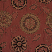 Spiroflora Terra Cotta Orange Woven Upholstery Fabric by P Kaufmann