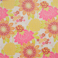Garden Party Tutti Fruitti Pink Woven Floral Upholstery fabric