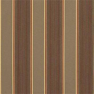Davidson Redwood Brown 5606-0000 Stripe Outdoor Fabric by Sunbrella