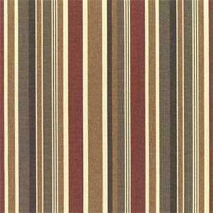 Brannon Redwood Red 5612-0000 Stripe Outdoor Fabric by Sunbrella