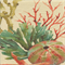 Sealife Multi Red Linen Aquatic Drapery Fabric Order a Swatch