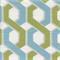 Mino Lynwood Green Blue Geometric Print Cotton Drapery fabric Order a Swatch
