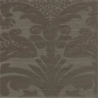 Mercer Jacquard Mink Taupe Floral Drapery Fabric