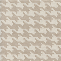 Patagallo Houndstooth 100 Natural Beige Woven Upholstery Fabric