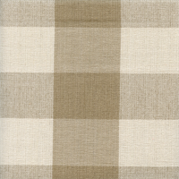 Reagan Check Linen Tan Check Drapery Fabric