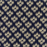 Chester Jacquered Indigo Blue Woven Ikat Design Upholstery Fabric