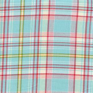Nathaniel Plaid Summer Blue Cotton Drapery Fabric