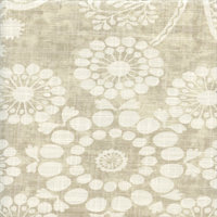 Garden Craft Dove Gray Floral Cotton Drapery fabric by P Kaufmann