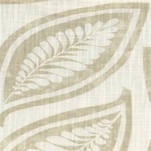 Leaf For Ever Dove Gray Leaf Cotton Drapery Fabric by P Kaufmann