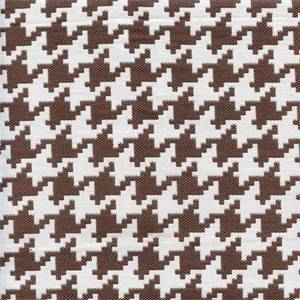 Harper Houndstooth Truffle Tan White Upholstery Fabric