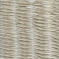 Accordion Ripple Flax Tan White Tuffed Stripe Drapery Fabric by P Kaufmann Order a Swatch