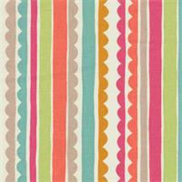 Saray Stripe Cotton Candy Pink Cotton Drapery Fabric by P Kaufmann