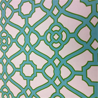 ODL Pavilion Fret Jade Green Geometric Indoor Outdoor Fabric by P Kaufmann