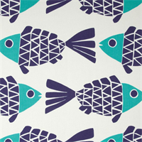 ODL Go Fish Blue Marine Indoor Outdoor Fabric by P Kaufmann