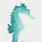 ODL Seahorse Turquoise Blue Indoor Outdoor Fabric by P Kaufmann Order a Swatch