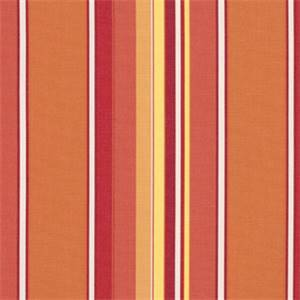 Dolce Mango Orange 56000-0000 Stripe Outdoor Fabric by Sunbrella