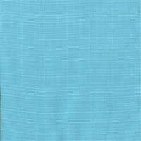 OD Sunsetter Capri Blue Solid Slubby Outdoor Fabric Swatch