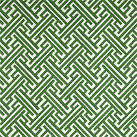 Trellis Slub Kelly Green Cotton Geometric Drapery Fabric Swatch