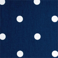 "On the Spot Dots Estate Navy Blue .75"" Polka Dot Cotton Drapery Fabric Swatch"