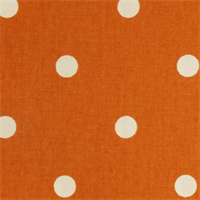 "On the Spot Dots Mandarin Orange .75"" Polka Dot Print Cotton Drapery Fabric"