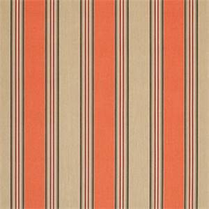 Passage Poppy Orange 56071-0000 Stripe Outdoor Fabric by Sunbrella