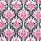 Madison Black/Candy Pink Floral by Premier Prints  Swatch