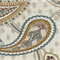 Sea Spray Pearl Blue Gray Paisley Floral Linen Drapery Fabric by P Kaufmann Swatch