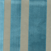 Cayman Laguna Blue Cut Velvet Vertical Stripe Upholstery Fabric