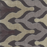 Monroe Velvet  Zinc Grey Geometric Design Cut Velvet Upholstery Fabric Swatch