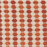 M9477 Tangerine Orange Embroidered Upholstery Fabric by Barrow Merrimac Swatch