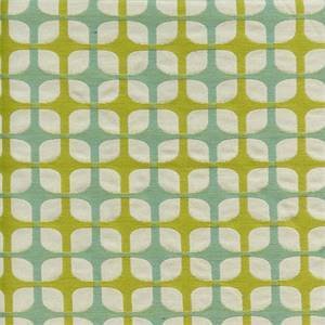 Unparelleled Meadow Green Woven Geometric Upholstery Fabric by Waverly