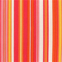 Beach Umbrella Tropical Punch Pink Striped Cotton Drapery Fabric 6 yd Piece