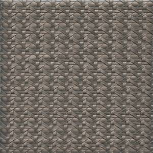 Barbados Vinyl Silver Basketweave Look Upholstery Fabric  Swatch