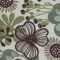 Flower Patch Spa Floral Upholstery Fabric  1.75 Yard Piece