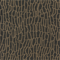 Wave Plush Chocolate Brown Embroidered Look Drapery Fabric Swatch