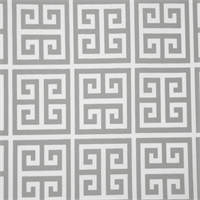 Towers Gray Greek Key Indoor Outdoor Fabric by Premier Prints
