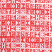 Towers Calypso Red Greek Key Design Indoor Outdoor Fabric by Premier Prints
