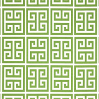 Towers Bay Green Greek Key Design Indoor Outdoor Fabric by Premier Prints