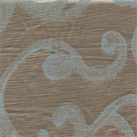 Satin Scroll Light Aqua Gold Drapery Fabric Swatch