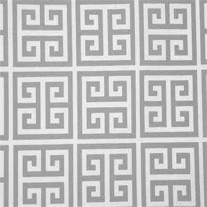 Towers Gray Greek Key Indoor Outdoor Fabric by Premier Prints 30 Yard Bolt