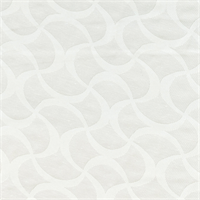 Satin Jacquard Ivory Scroll Design Drapery Fabric Swatch