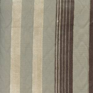 Cayman Cut Velvet Stripe Beach Beige Upholstery Fabric Swatch