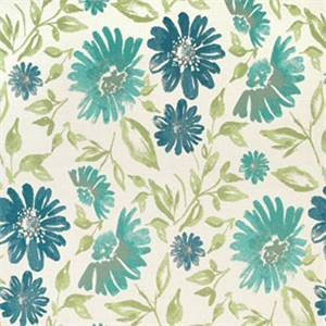 Violetta Baltic Blue 45760-0002 Floral Outdoor Fabric by Sunbrella